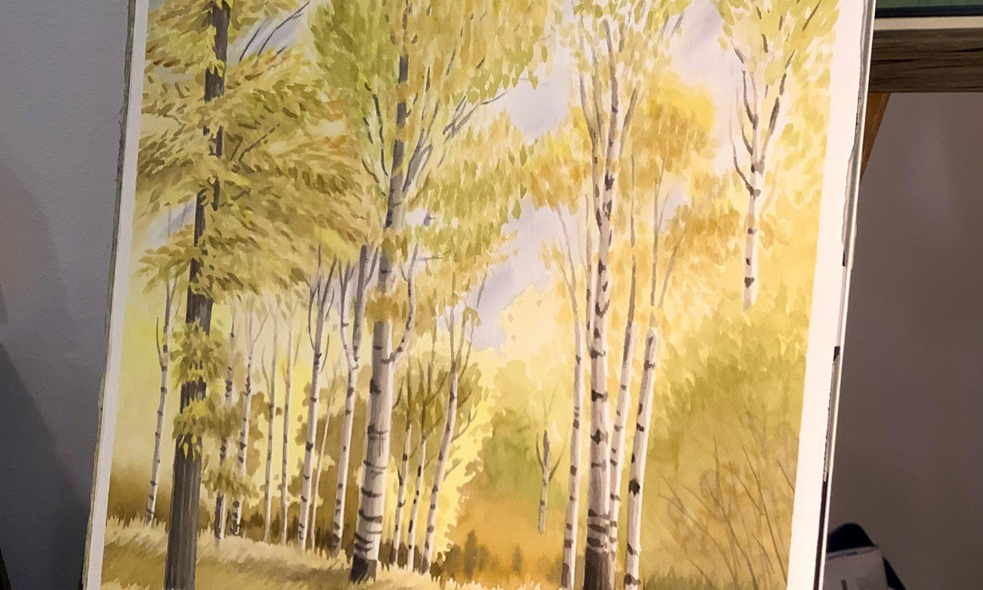 Yellow Fall Scene